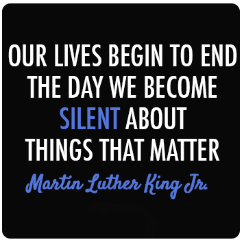 MLK_Our Lives Begin to End